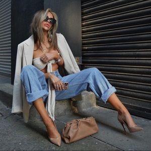 ZARA AUTHENTIC DENIM Paperbag Wide Leg Jean by TRF
